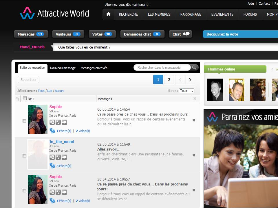 Attractive World que penser de ce site